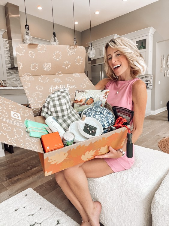FabFitFun Fall 2021 box with add ons and review value of box