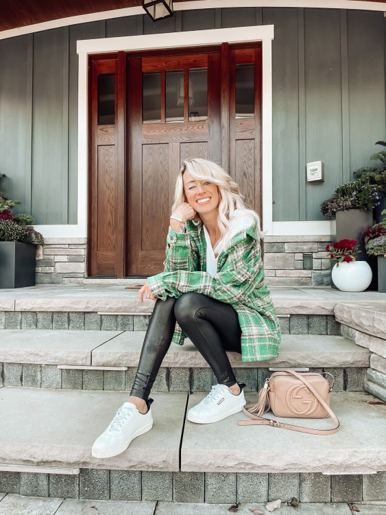 shacket and soanx leggings fall outfit ideas michigan
