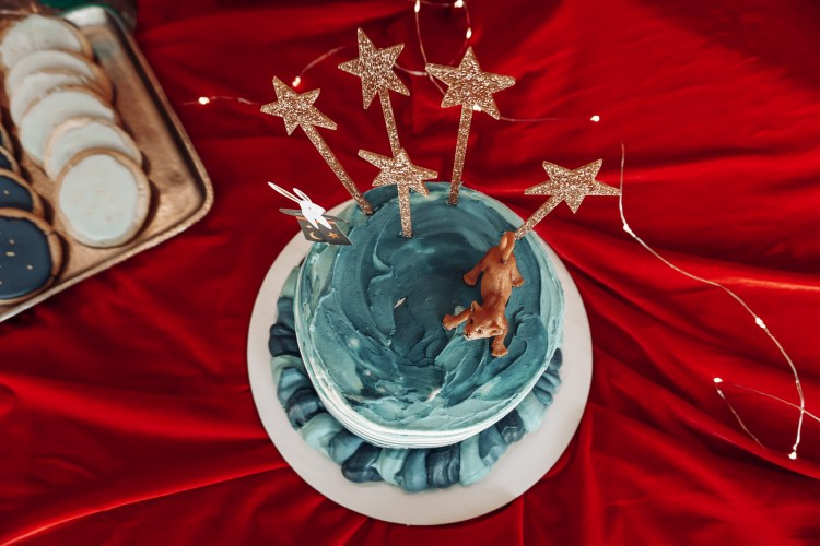 magical lions birthday cake party