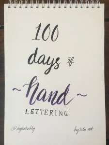 100 Days of Hand Lettering Challenge