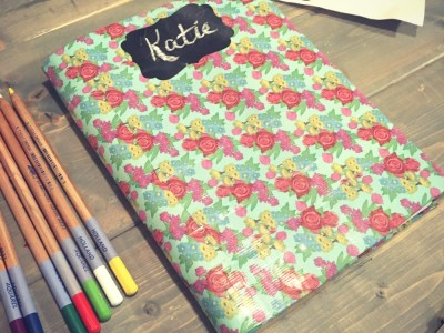 Make a BuJo Book Cover from Duck Tape