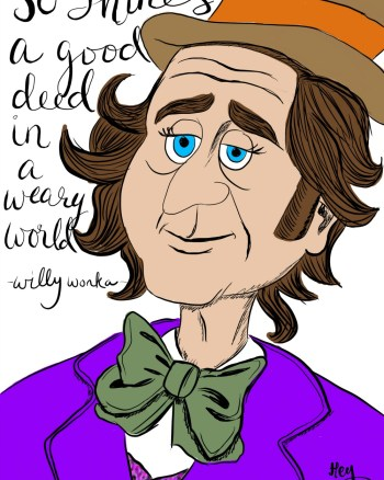 RIP Gene Wilder - Willy Wonka caricature