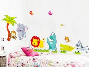 Stickers muraux animaux pour décorer la chambre des enfants
