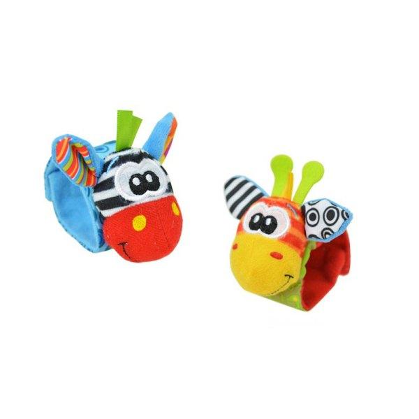 Doudous animaux en bracelets pour bébé