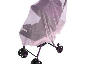 Moustiquaire poussette bébé - couleur rose