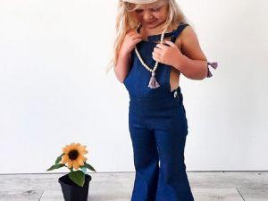 Salopette bleue pattes d'eph fille / bébé fille