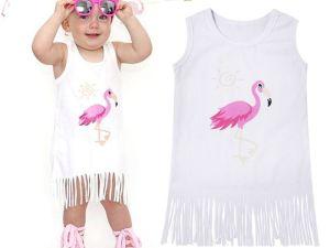Robe d'été pour enfant fille FLAMINGO flamant rose