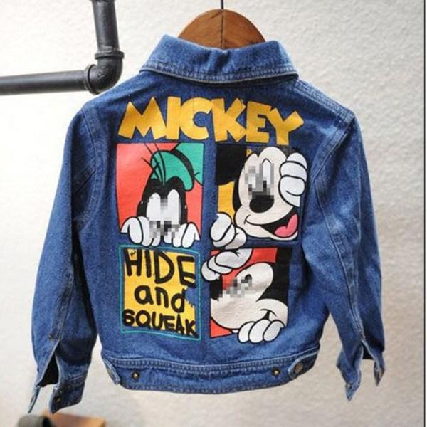Veste en jean pour fille - Mickey et Dingo
