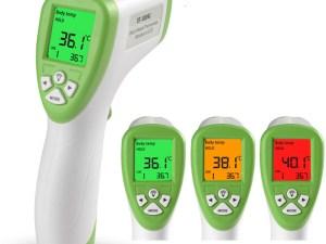 Thermomètre infrarouge sans contact avec écran LCD
