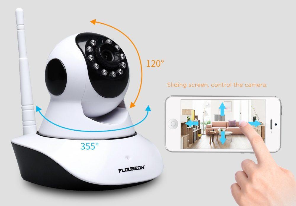 Rotation de la caméra de surveillance bébé avec le smartphone