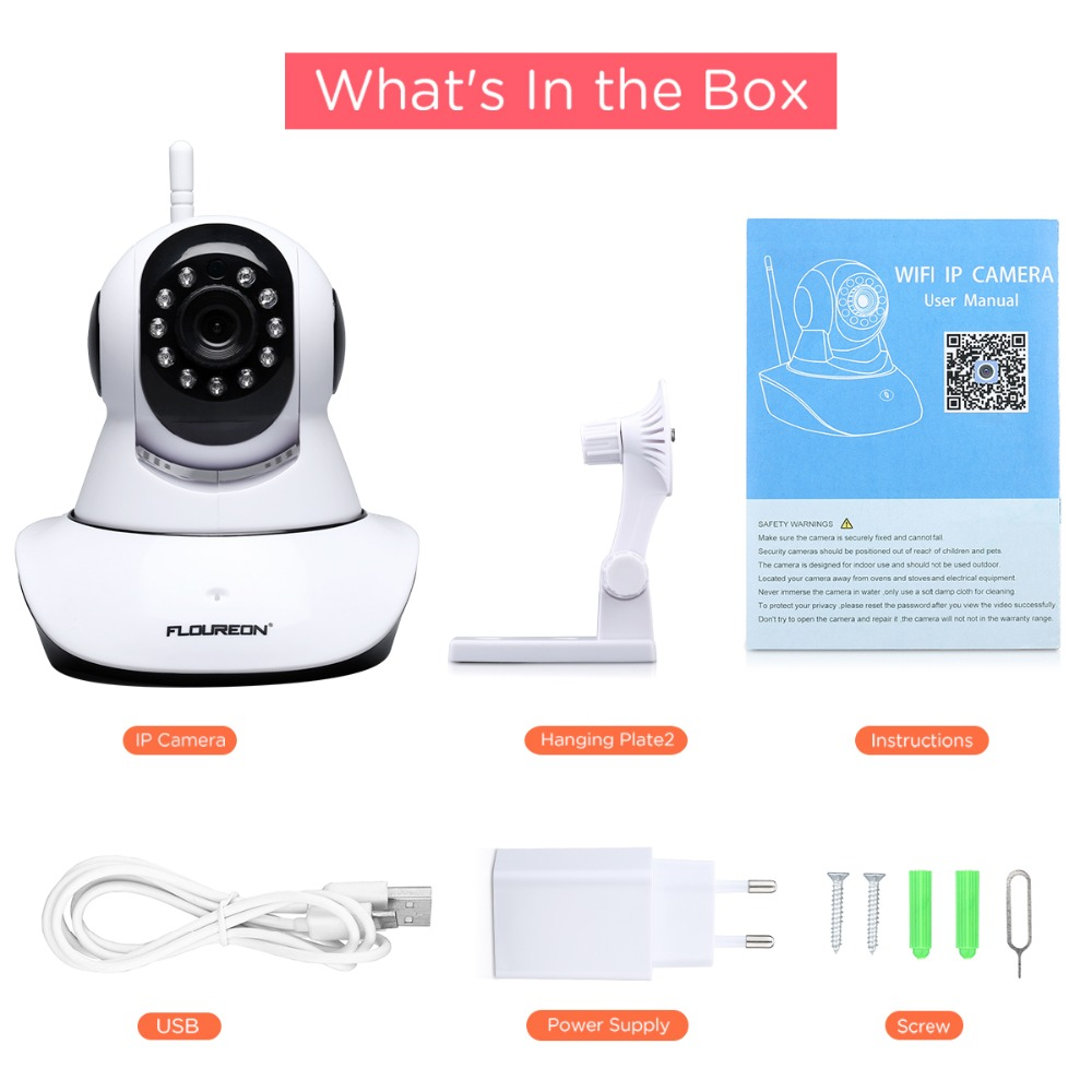 Contenu de l'emballage - Caméra sans fil pour surveiller bébé