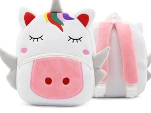 Sac à dos peluche en forme de licorne - Sac à dos maternelle, sorties