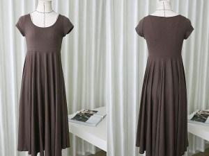 Robe d'été souple - Robe grossesse marron