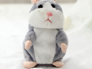 Peluches hamster couleur gris