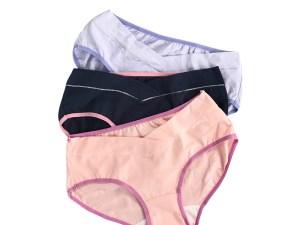 Lot 3 culottes grossesse - couleur rose, bleu marine, mauve