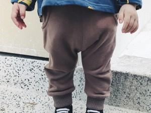 Pantalon survêtement bébé couleur marron