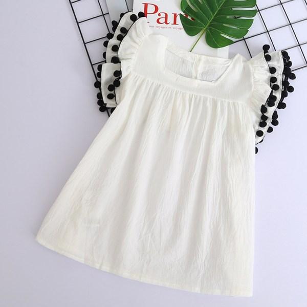Robe blanche mi-longue pour fille