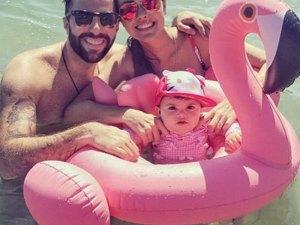 Bouée bébé flamant rose