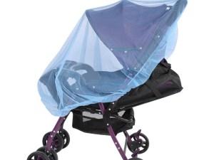 Moustiquaire poussette bébé - couleur bleu