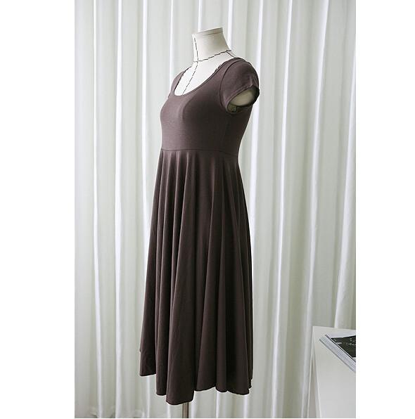 Robe d'été marron pour femme enceinte