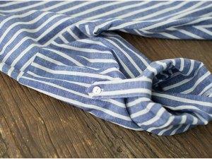 Manches longues de la robe grossesse et post-grossesse - Robe bleu et blanc à rayures