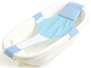 Baignoire de bébé avec le support de sécurité couleur bleu