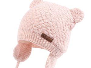 Bonnet bébé rose pour fille