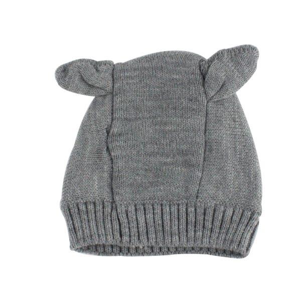 Cagoule bébé grise vue de derrière