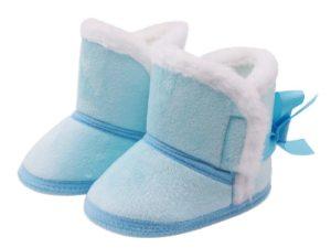 Bottines en suédine bébé - couleur bleu