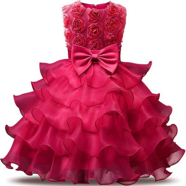 Robe fille occasion mariage - Robe rose fuchsia