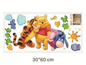 Dimensions du sticker mural décoratif pour chambre enfant bébé