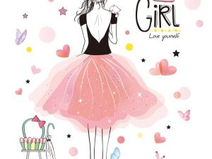 Stickers muraux chambre fille - Glamour et féerique