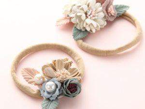 Bandeau floral pour nouveau-né