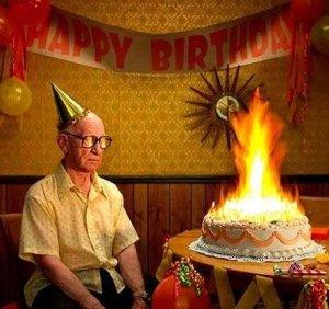 Old man birthday cake