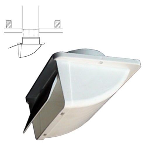 soffit vent for 4 ducting with backdraft damper