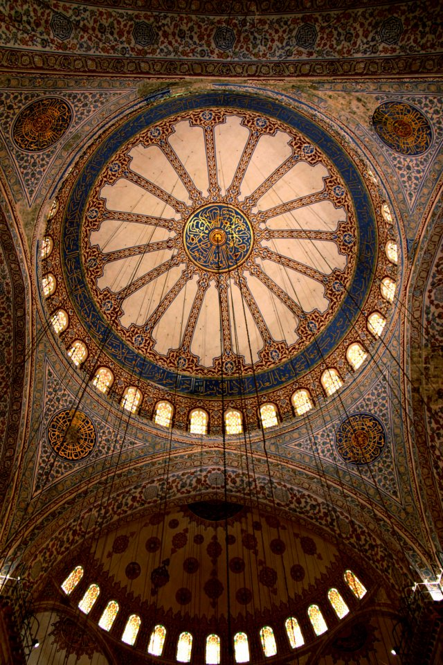 Decorated ceiling - Blue Mosque