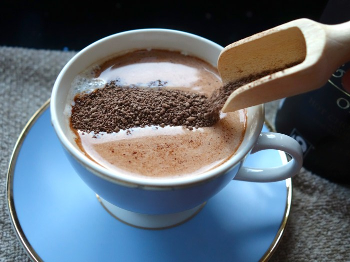 Black Forest Hot Chocolate - mix in the hot chocolate powder