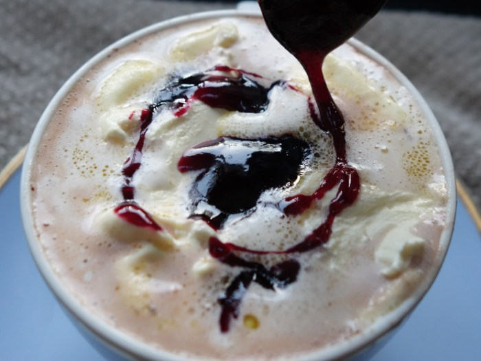 Black Forest Hot Chocolate - add a drizzle of syrup
