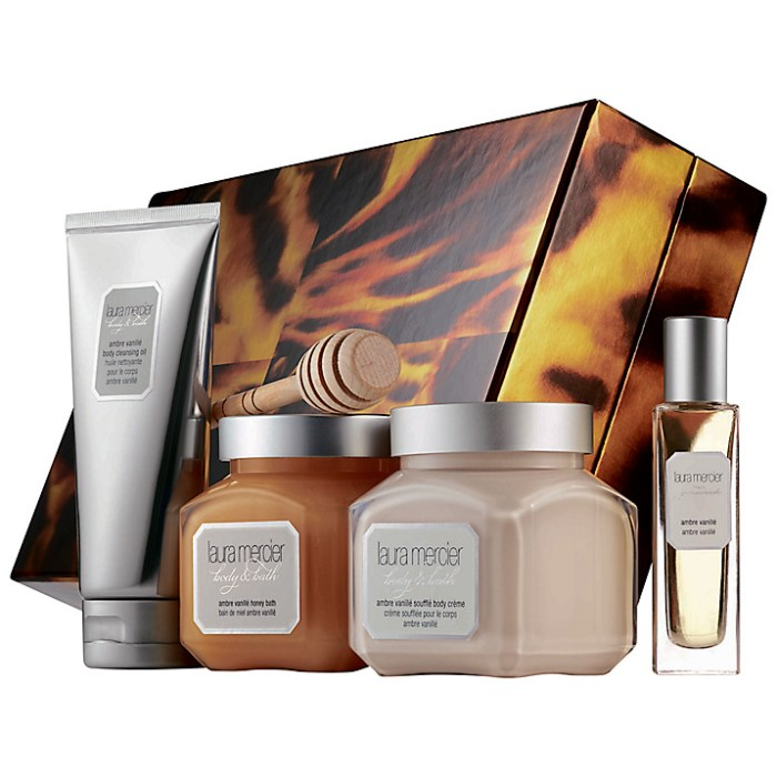 HeyRashmi Gift Guide: Laura Mercier Sweet Temptations Ambre Vanille luxe body collection