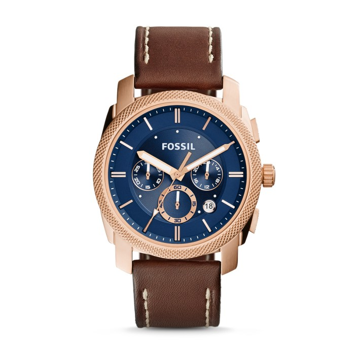HeyRashmi gift guide: Fossil Machine Chronograph Brown Leather Watch
