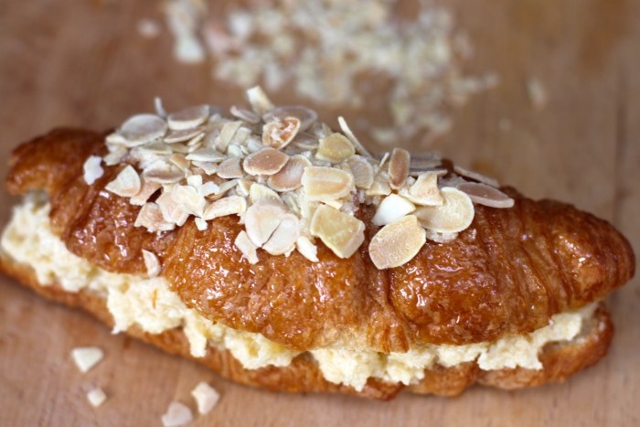 HeyRashmi Almond Croissants - flaked almond topping
