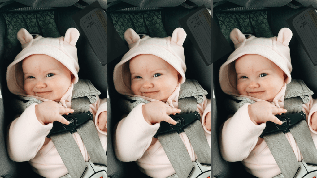 baby in nontoxic car seat