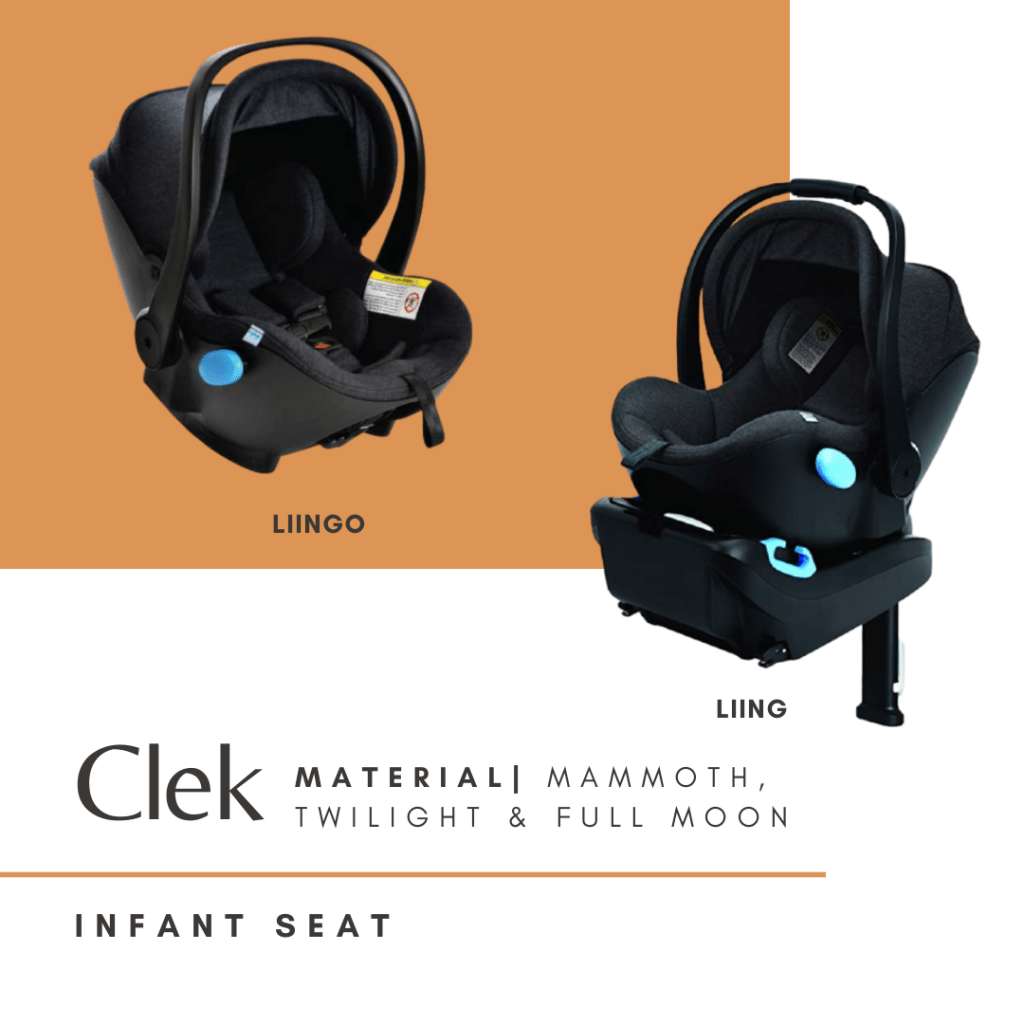 clek liingo infant nontoxic car seat