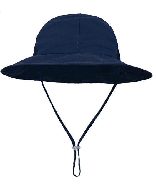 Summer Diaper Bag hat with chin strap