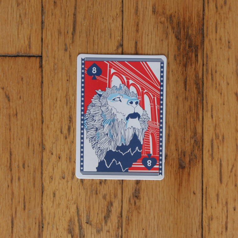Chicago Playing Card: Art Institute of Chicago