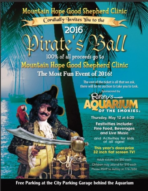 Pirate's Ball at Ripley's Aquarium of the Smokies May 12, 2016