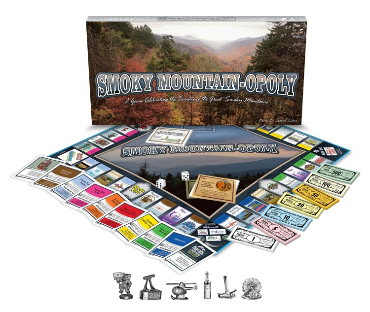 Great SMOKY MOUNTAIN-OPOLY Monopoly Board Game Gatlinburg Pigeon Forge Dollywood