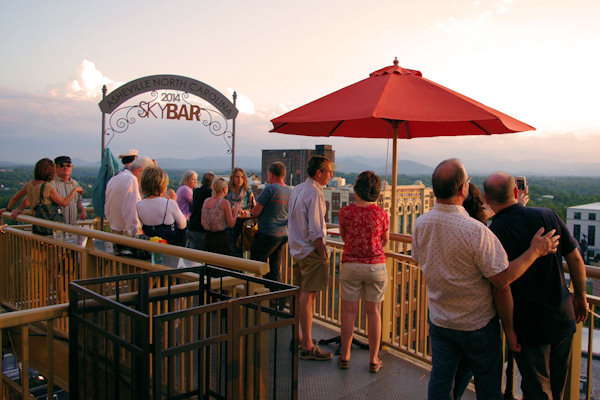 SkyBar in Downtown Asheville North Carolina