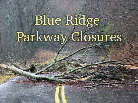 Blue Ridge Parkway closure. Photo credit - NPS