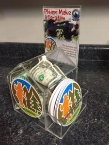 HeySmokies.com donation boxes benefit Appalachian Bear Rescue and help save orphaned black bear cubs.
